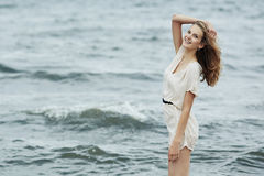 Beautiful sensual girl in water Royalty Free Stock Photography