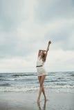Beautiful sensual girl in water portrait Royalty Free Stock Image