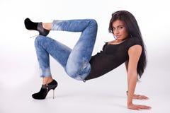 Beautiful and sensual latin woman Royalty Free Stock Photos