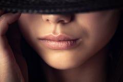 Beautiful sensual lips Royalty Free Stock Images
