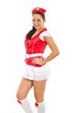 Beautiful sensual nurse royalty free stock photos