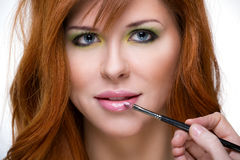 Beautiful sensual red-haired woman. Royalty Free Stock Images