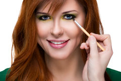 Beautiful sensual red-haired woman. Royalty Free Stock Photo