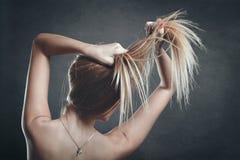 Beautiful sensual shoulders Stock Photo