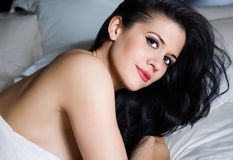 Beautiful sensual woman with captivating eyes Royalty Free Stock Photo