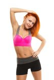 Beautiful sensual woman doing fitness Royalty Free Stock Images