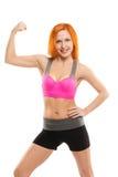 Beautiful sensual woman doing fitness Stock Photos