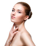 Beautiful sensual woman with healthy skin. Royalty Free Stock Images