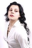 Beautiful sensual woman with long curly hair Stock Photos