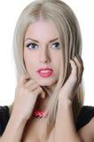 Beautiful sensual woman with long hair Royalty Free Stock Photography