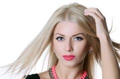 Beautiful sensual woman with long hair Stock Photos