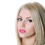 Beautiful sensual woman with long hair Stock Photo
