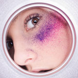 Sensual girl with abstract makeup. Stock Photo