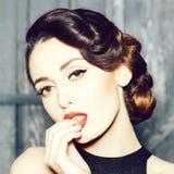 Beautiful sensual woman stock image