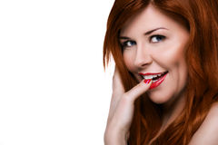 Beautiful sensual woman with red hair Stock Image