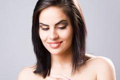 Beautiful sensual young brunette. Stock Photo