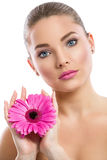 Beautiful sensual young woman with healthy complexion Stock Photo
