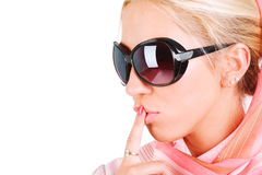 Beautiful sensuality girl in sunglasses Royalty Free Stock Photography