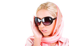 Beautiful sensuality girl in sunglasses Stock Photography
