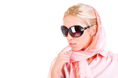 Beautiful sensuality girl in sunglasses Royalty Free Stock Photos