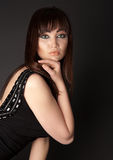 Beautiful sensuality woman looking to the camera Stock Photos