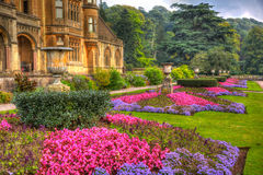 Beautiful September sunshine and warm weather drew visitors to the gardens at Tyntesfield House, Wraxhall, North Somerset, England Stock Photo