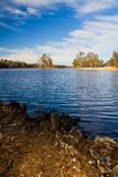Beautiful serene lake. Beautiful view of a serene lake in Mina de S�o Domingos, Portugal Stock Image