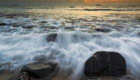 Beautiful serene sunrise in Al Aqqa beach, Fujairah Royalty Free Stock Image