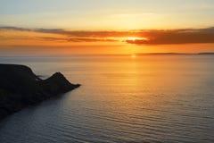 Beautiful serene sunset over loop head Stock Images