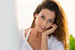 Beautiful serene woman portrait Royalty Free Stock Photography