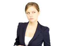 Beautiful serious blond businesswoman Royalty Free Stock Images