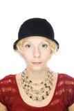 Beautiful serious lady portrait Stock Image