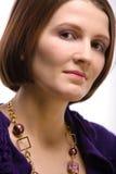 Beautiful serious woman Stock Image