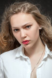 Beautiful serious woman Royalty Free Stock Photography