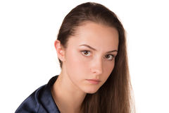 Beautiful serious young woman Stock Photo