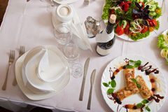 Beautiful served table Royalty Free Stock Images