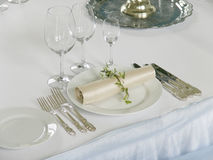 beautiful served table Stock Photo