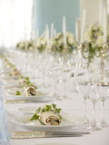 Beautiful served table Stock Photos