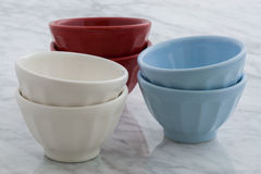 Beautiful set of bowls Stock Photography