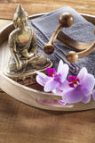 Beautiful set with Buddha for inner beauty Royalty Free Stock Photo