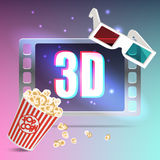 Beautiful set of cinema symbols Royalty Free Stock Image