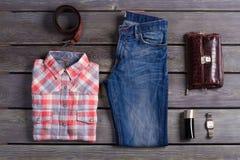 Beautiful set of clothes. Beautiful set of clothes the stylish man. Casual wear Stock Photography