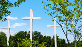Beautiful set of crosses outdoors Royalty Free Stock Photos