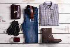 Beautiful set of men's clothing. Royalty Free Stock Photo