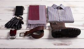 Beautiful set of menswear. Royalty Free Stock Photos