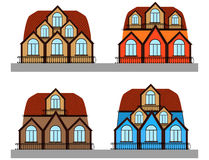 Beautiful set of multicolored vector houses Royalty Free Stock Image
