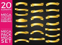 Beautiful Set and Pack Luxury Ribbons and Tags Collection Set Vector Design. Eps 10 vector illustration