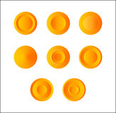 Beautiful set of rubber buttons Stock Photo