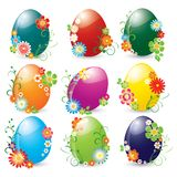 Beautiful set of shining easter eggs Royalty Free Stock Photos