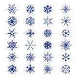 beautiful set snowflakes Στοκ Εικόνα